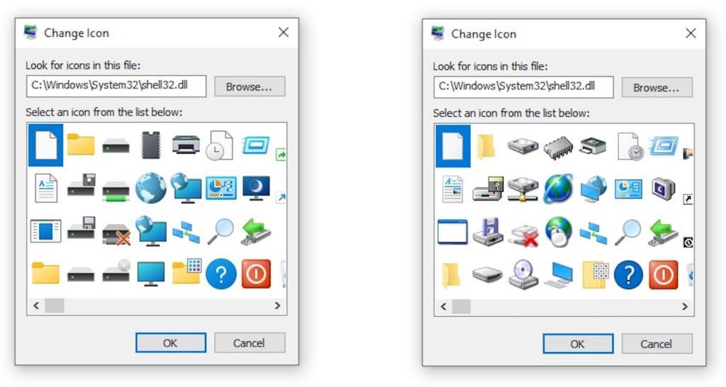 Windows 10 Anciennes vs Nouvelles Icones Windows 95