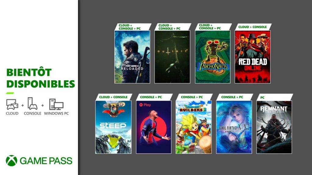 Xbox Game Pass Mai 2021