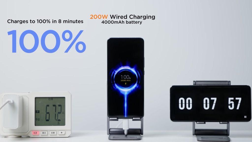 Xiaomi dévoile la charge en 8 minutes à 200 W et sans-fil à 120 W