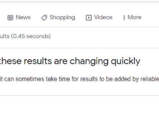 Google avertissement