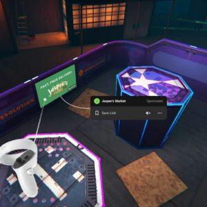 Image article Facebook met des pubs dans les apps de l'Oculus Quest