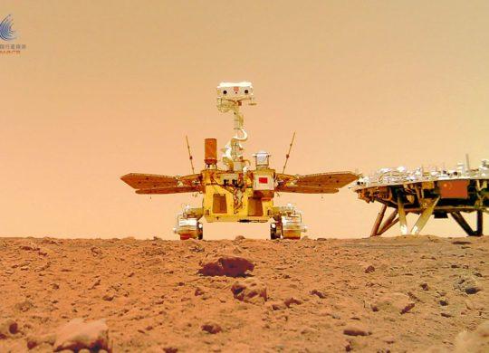 Rover chinois Mars selfie