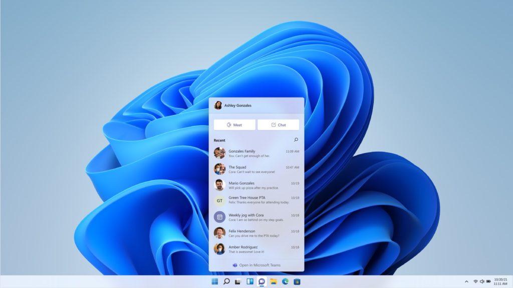 Windows 11 Microsoft Teams Integre