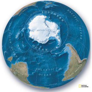 Image article L'océan Austral rejoint officiellement la carte du monde !