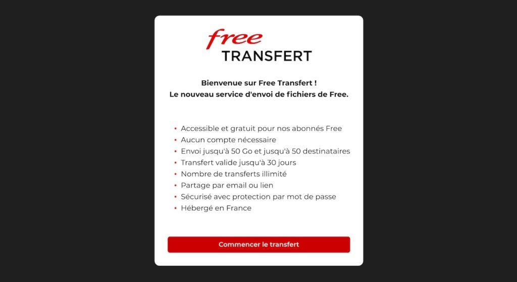 Free Transfert