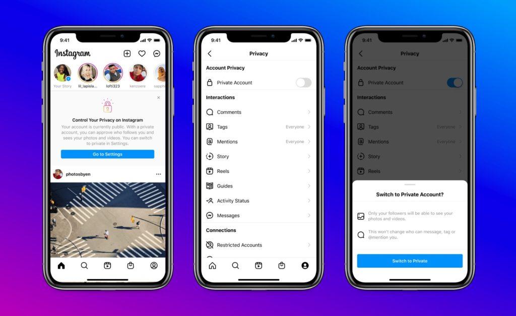 Ειδοποίηση Instagram Ενεργοποίηση ιδιωτικού λογαριασμού