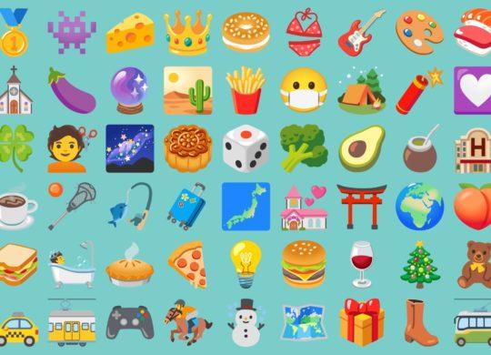 Nouveaux Emojis Android 12