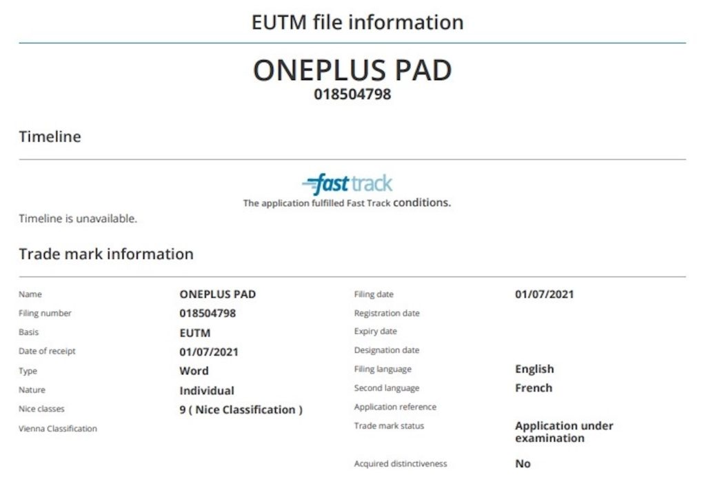 OnePlus Pad Depot Marque