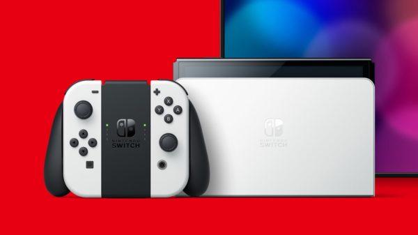 Switch OLED 2021 Dock et Joy-Con Blanc
