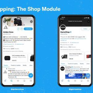 Image article Twitter teste une section pour faire du shopping