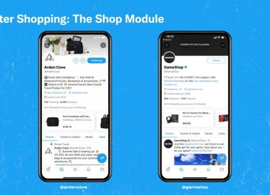 Twitter Module Shopping