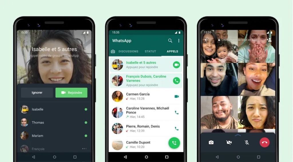 WhatsApp Rejoindre Appel Video Groupe Manque