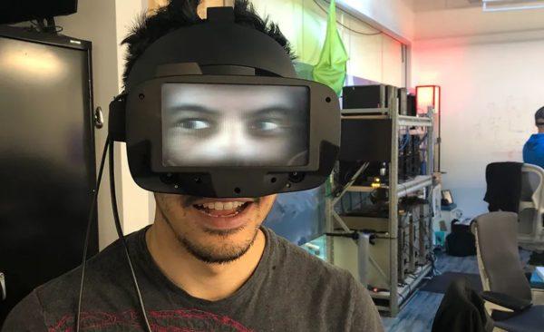 Facebook casque VR yeux 1