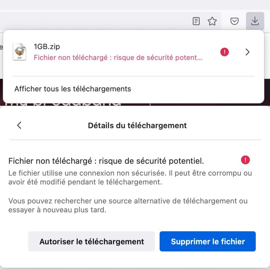 Firefox Bloque Telechargements Non Securises