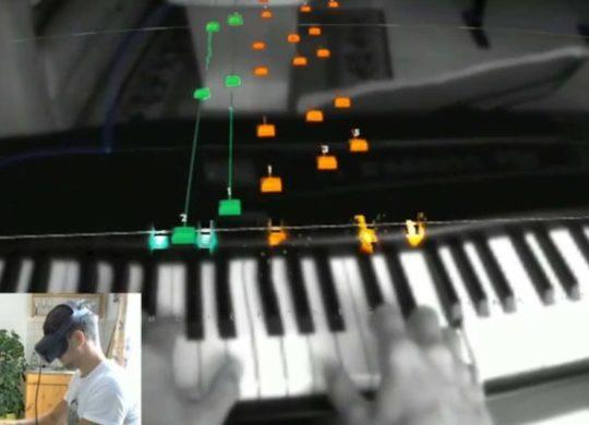 Oculus Quest apprendre le piano