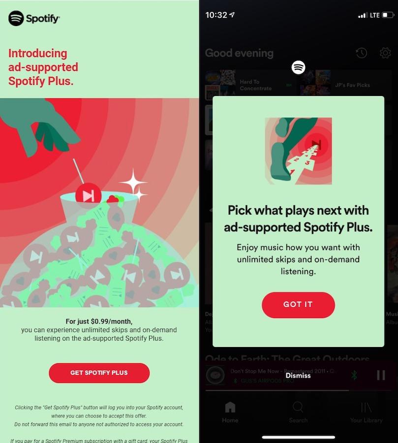 Το Spotify δοκιμάζει μια premium προσφορά στα 0,99 € / μήνα, αλλά με διαφημίσεις
