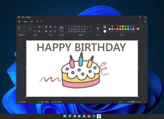 Paint Nouvelle Interface Mode Sombre Windows 11