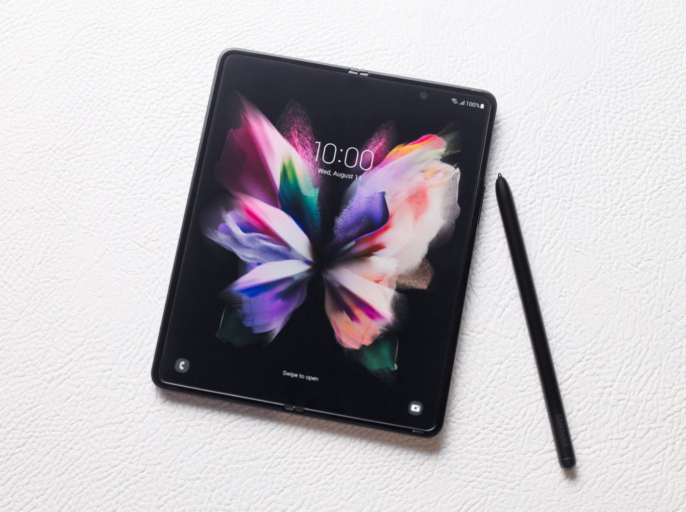 Samsung Galaxy Z Fold 3 Officiel Deplie et S Pen