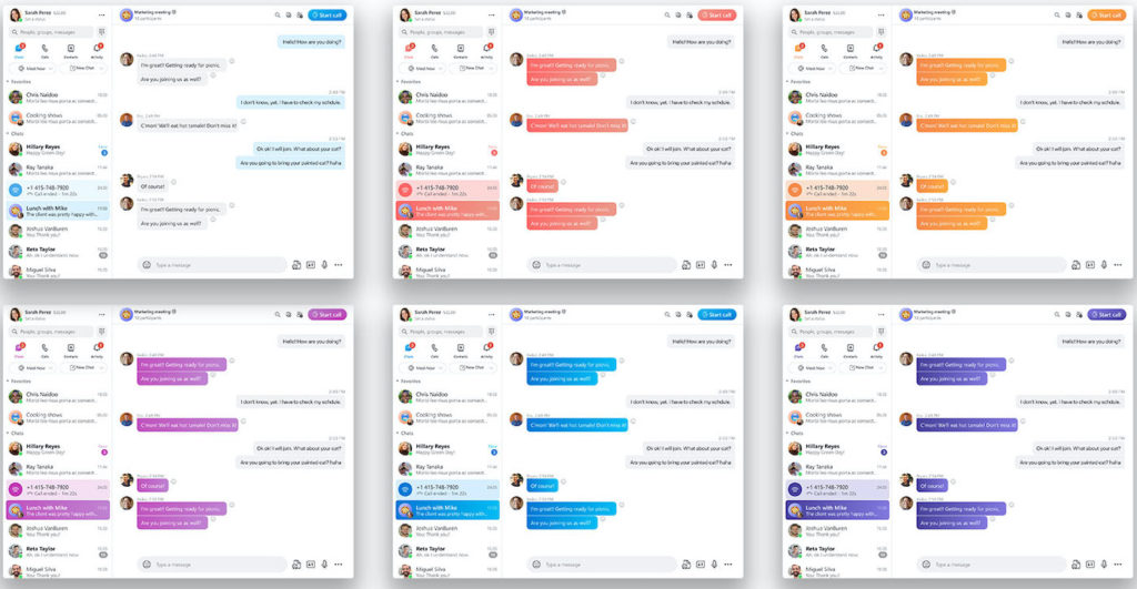 Skype Nouvelle Interface 2021 Themes