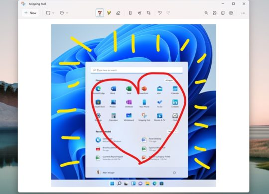 Windows 11 Application Capture Ecran Interface