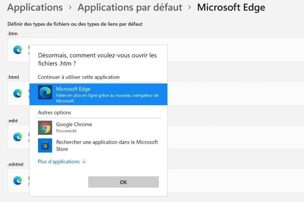Windows 11 Changer Navigateur Par Defaut