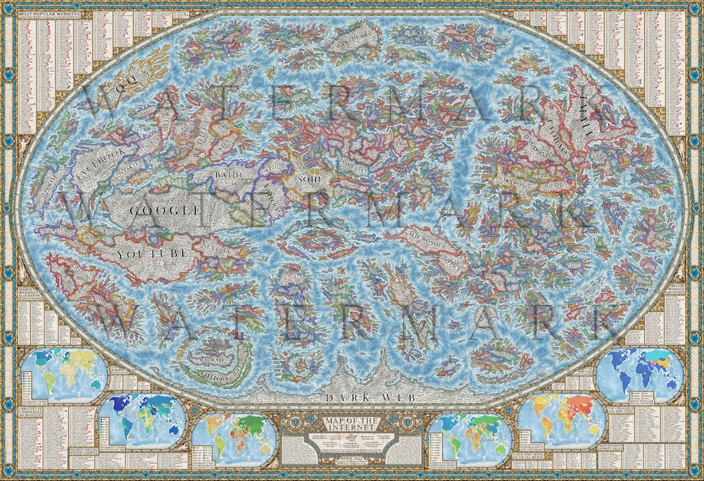 Map Monde Internet