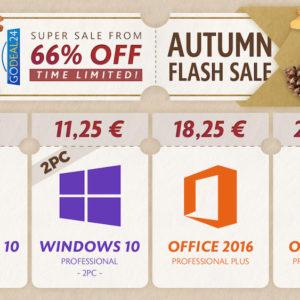 Image article [#Promo] Windows 10 pro à 7,25€, Windows 10 + Office Pro à 30,48€, Ccleaner Pro à 19,99€,Total Uninstall à 9,99€,…