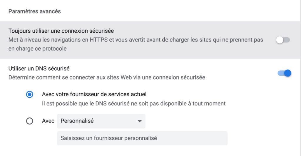 Chrome 94 Mode HTTPS Force
