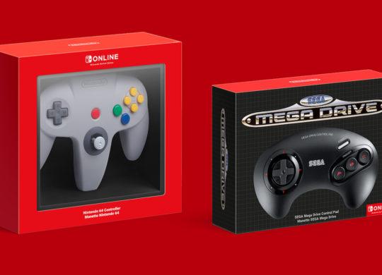 Manettes Nintendo 64 et Mega Drive pour Switch