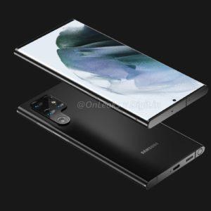 Image article Samsung Galaxy S22 Ultra : des rendus dévoilent le design général