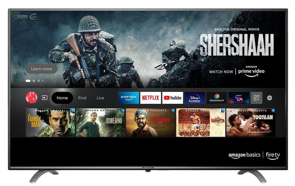 Televiseur Amazon Inde
