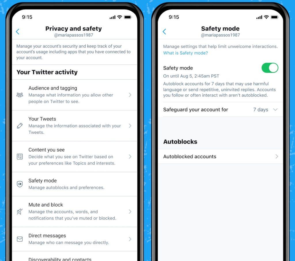 Twitter Mode Sécurité
