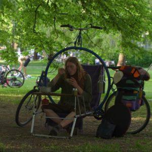Image article Un étudiant met au point un vélo de camping «transformiste»