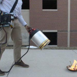 Image article Deux étudiants américains dévoilent un extincteur… à infrasons !
