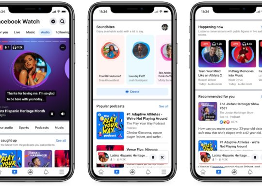 Facebook Section Audio