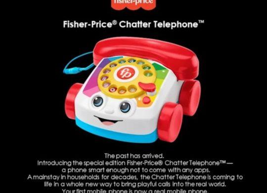 Fisher Price vrai téléphone