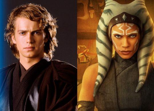 Hayden Christensen Anakin Skywalker et Rosario Dawson Ahsoka