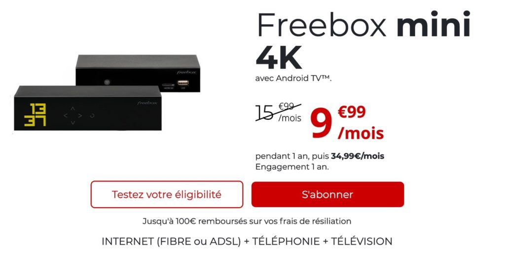 Promo Freebox Mini 4K Octobre 2021