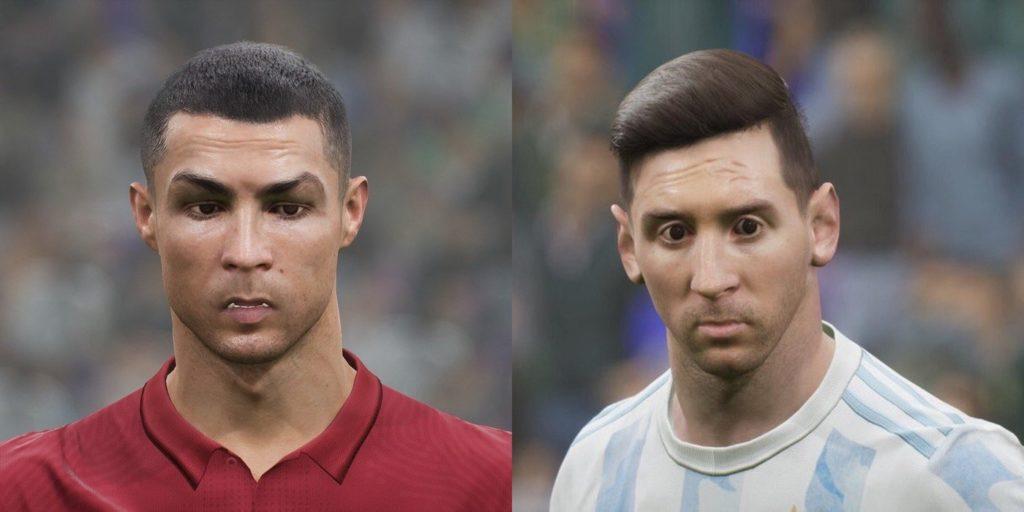 eFootball 2022 Cristiano Ronaldo et Messi